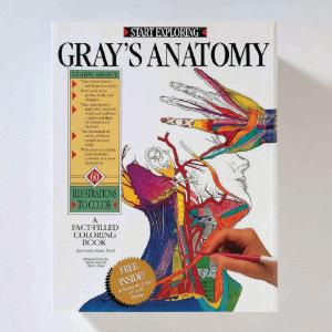 Gray's Anatomy: A Fact-Filled Coloring Book