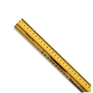SI Metric Desk Ruler