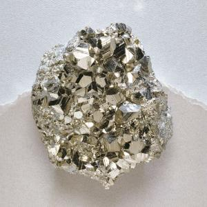 Pyrite crystal group