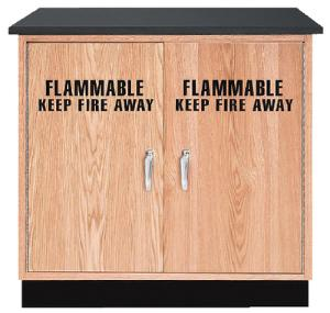SafeOne™ Wood Flammable Liquid Storage Cabinet