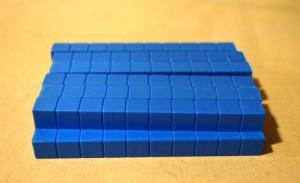 Base Ten Blue Rods, Standard Set