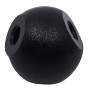 Three Hole Molecular Ball, Black