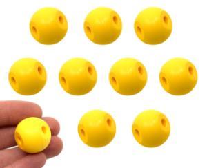 Two Hole Molecular Ball, Yellow