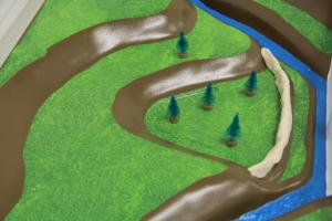 Stormwater Floodplain Simulation System, Clay-Levee-Floodplain-CU