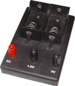 2 Battery Holder with Plug Jacks