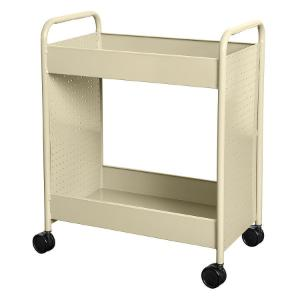 "Cart steam two 4"" deep trays almond"