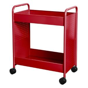 "Cart steam two 4"" deep trays red"