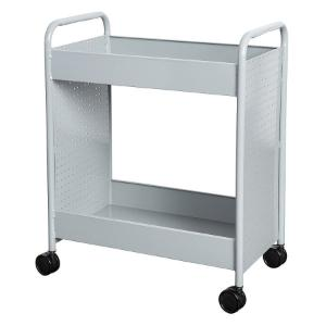 "Cart steam two 4"" deep trays gray"