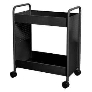 "Cart steam two 4"" deep trays black"