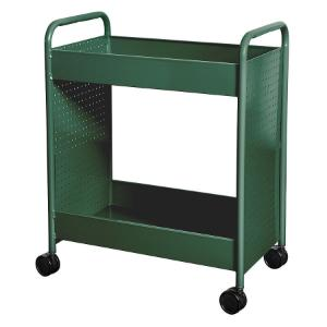"Cart steam two 4"" deep trays green"
