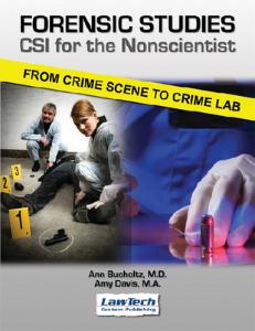 Forensic Studies CSI for Non-Scientists Textbook