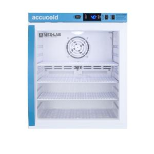 Medical laboratory series refrigerator with glass doors, 1 cu.ft.