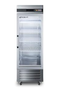 Medical laboratory series refrigerator with glass doors and casters, 23 cu.ft.