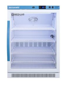 Medical laboratory series refrigerator with glass doors, 6 cu.ft.