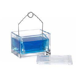 Microscope Slide Staining Dish with Rack