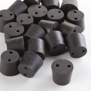 2-Hole Natural Rubber Stoppers