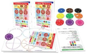 Pizza fractions kit
