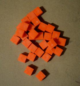 Unit Cube Base Ten Orange Stand