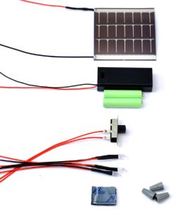 Solar LED Flashlight Kit (Pre-Wired)