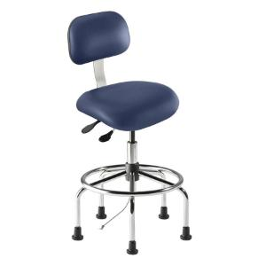 Biofit eton series static control chair, high seat height range with steel base, affixed footring and glides