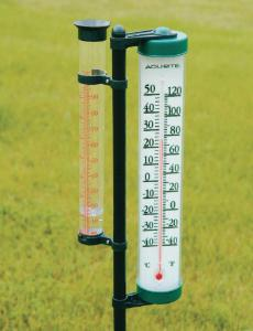 Rain Gauge Thermometer