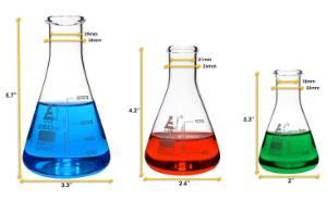 Flask narrow neck set 50, 100, 250 ml