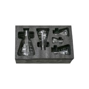 Flask narrow neck set, 50, 150, 250, 500, 1000 ml