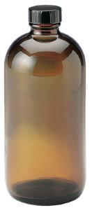 Plastic Coated Amber Glass Safety Bottles