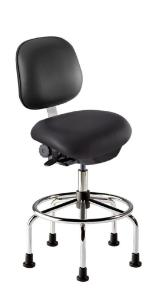 Vinyl black chair