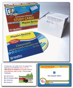 Curriculum Mastery® Study Cards: High School Physics Review