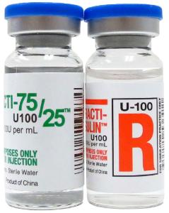 Practi-75/25 Insulin and Practi-Regular Insulin Pack™ for Clinical Training, Wallcur