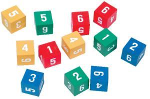Hardwood Number Cubes