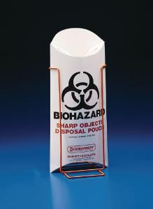 SCIENCEWARE®, Biohazard Sharp Object Pouch and Stand, Bel-Art