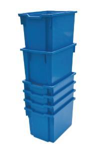 Jumbo (F3) Storage Tray in Cyan Blue