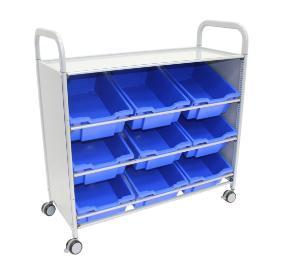 Gratnells Callero Plus Tilted Tray Cart