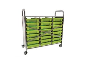 Gratnells Callero Plus Treble Tray Cart Reinforced Back