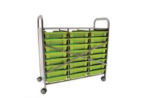Gratnells Callero Plus Treble Tray Cart Reinforced Back