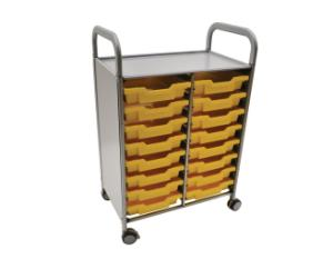 Gratnells Callero Plus Double Tray Cart 16 Shallow Trays