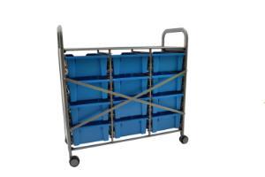 Gratnells Callero Plus Treble Tray Cart 12 Deep Trays Back - 470316-356