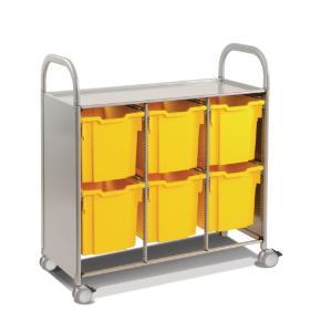Gratnells Callero Plus Treble Tray Cart 6 Jumbo Trays - 470316-380