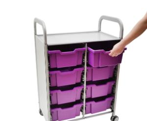 Gratnells Callero Plus Double Tray Cart in Use - 470316-408
