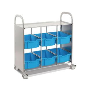 Gratnells Callero Plus Treble Tray Cart 6 Deep Trays - 470316-428
