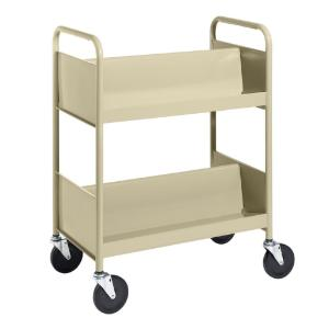 Almond Cart with Two Double-Sided Sloping Shelves