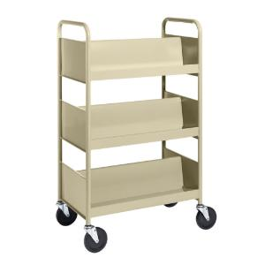 Almond Cart with Three Double-Sided Sloping Shelves