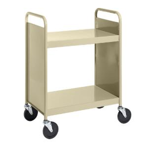 Almond Cart with Two Flat Shelves