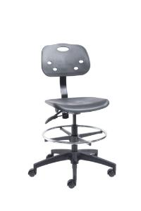 VWR® Polypropylene Lab Chairs, Bench Height, Dual Soft-Wheel Casters