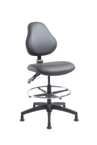 """VWR® Upholstered Lab Chairs, Bench Height, 2"""" Nylon Glides"""