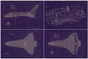 Space shuttle set