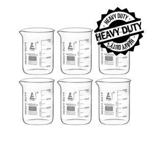 Beaker heavy duty glass 400 ml pack