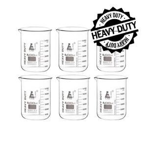 Beaker heavy duty glass 600 ml pack